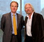 Nigel Gibbons with Richard Branson Los Angeles 2011